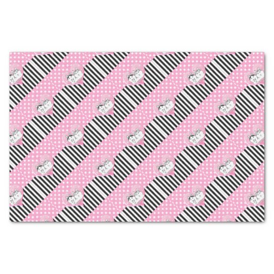 Huskies pink pattern tissue paper
