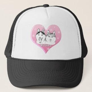 Huskies Pink Trucker Hat