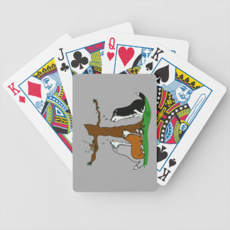 Huskies singing to the birds bicycle playing cards