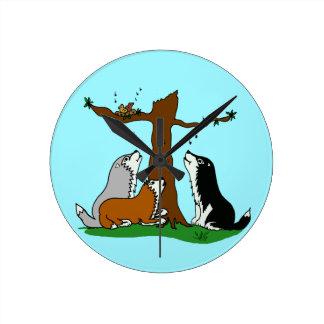 Huskies singing to the birds round clock