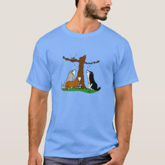 Huskies singing to the birds T-Shirt