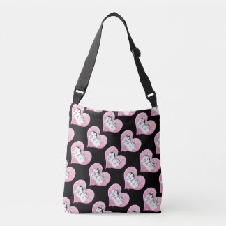 Huskies Snow Pink Crossbody Bag