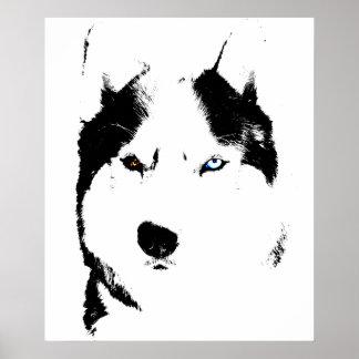 Husky Art Print Sled Dog Art Poster Husky Gifts