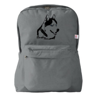 Husky Backpack Husky School Bags Personalized