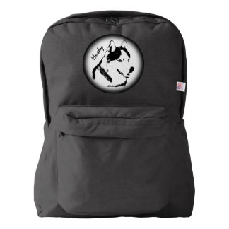 Husky Backpack Siberian Husky Malamute Backpacks