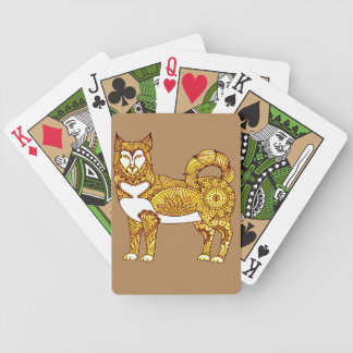 Husky Bicycle Playing Cards