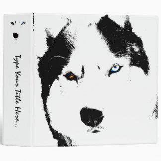 Husky Binder Personalized Sled Dog School Supplies