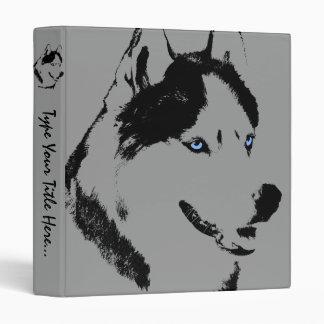 Husky Binder Sled Dog Husky Art School Supplies
