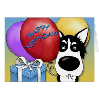 Husky Birthday Card