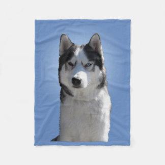 Husky Blanket Cool Siberian Husky Fleece Blanket