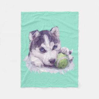 Husky Blues Fleece Blanket