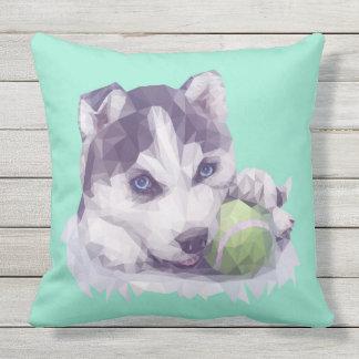 Husky Blues Throw Pillow