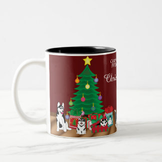 Husky Christmas Mug
