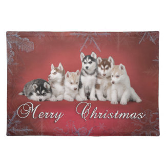 Husky christmas placemat