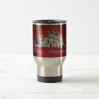 Husky christmas travel mug