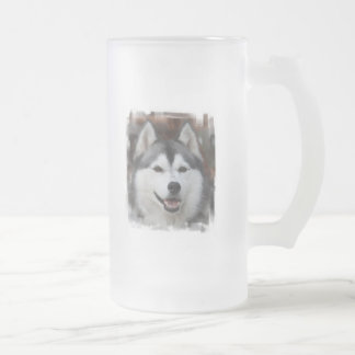 Husky Dog Frosted Beer Mug