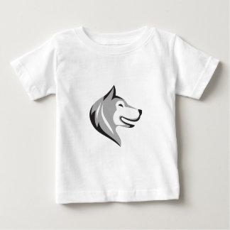 Husky Dog Head Retro Baby T-Shirt