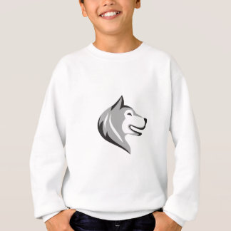 Husky Dog Head Retro Sweatshirt