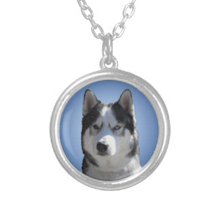 Husky Dog Necklace Siberian Husky Eyes Necklace
