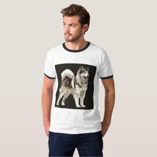 Husky Drawing Dog Man Shirt