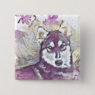 Husky Flower Button