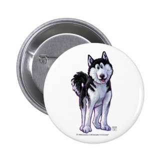 Husky Gifts & Accessories 2 Inch Round Button
