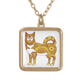 Husky Gold Plated Necklace