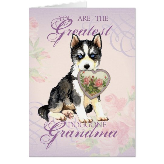 Husky Heart Grandma Card
