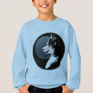Husky Kid's Shirts Sled Dog Kid's Husky Sweatshirt