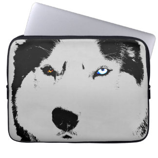 Husky Laptop Case Siberian Husky Eyes Gifts Laptop Computer Sleeve