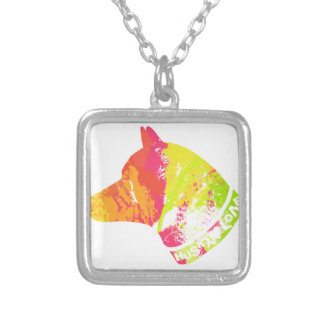 HUSKY Love Silver Plated Necklace