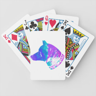 HUSKY Love (Violet) Bicycle Playing Cards