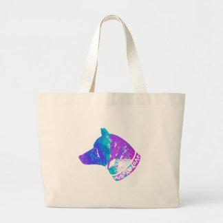 HUSKY Love (Violet) Large Tote Bag