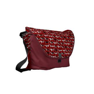 Husky Messenger Bag Sled Dog Travel Bags Custom