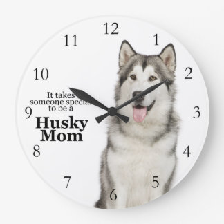 Husky Mom Clock