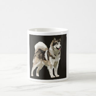 Husky  Mug, Darm Background dog drawing Coffee Mug