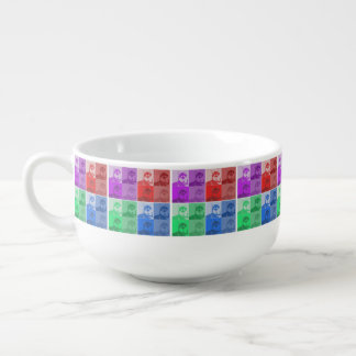 Husky Neon Collage Pop Art Soup Mug