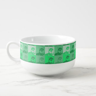 Husky Neon Green Pop Art Soup Mug