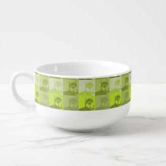 Husky Neon Yellow Pop Art Soup Mug