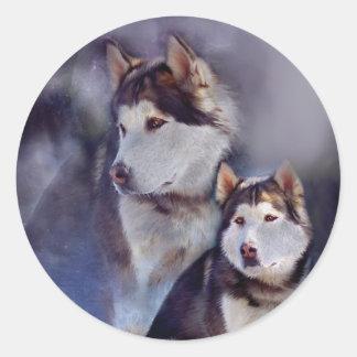 Husky - Night Spirit Sticker