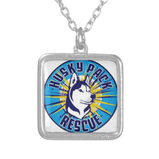 Husky Pack Rescue Logo Items Silver Plated Necklace