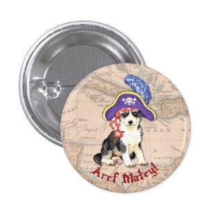 Husky Pirate 1 Inch Round Button