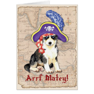 Husky Pirate Card