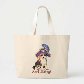 Husky Pirate Large Tote Bag