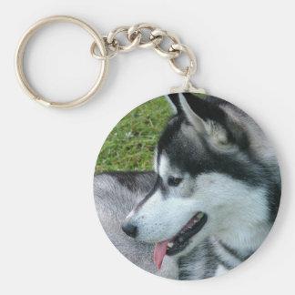 Husky Profile  Keychain