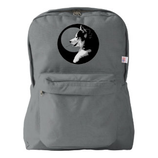 Husky Pup Backpack Wolf Dog Backpacks Custom