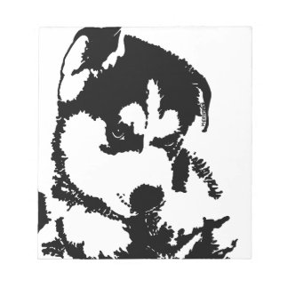 Husky Pup With Attitude Notepad
