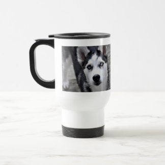 Husky Puppy Plastic Travel Mug