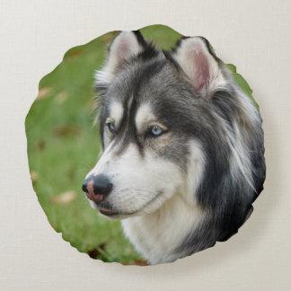 Husky Round Pillow