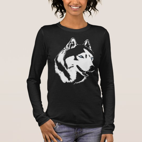 Husky Shirts Wolf Art Lady's Shirts Dog Shirts